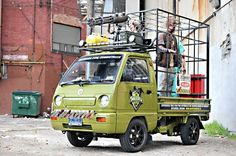 Zombie Apocalypse Survival Vehicle is loads of right hand drive weirdness - http://f3v3r.com/2013/03/26/zombie-apocalypse-survival-vehicle-is-loads-of-right-hand-drive-weirdness/