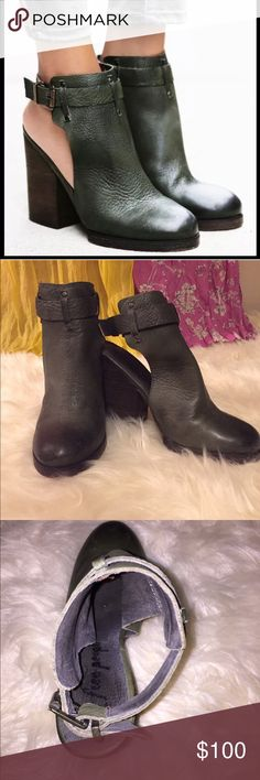 Free People Breton Heeled Boot Cute dark green boot, has the perfect amount of height while still being comfortable enough for every day wear. NWOT Free People Shoes Ankle Boots & Booties