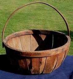 """Antique Apple Basket """"Very Old Apple Basket from Shenandoah Valley Virginia""""   eBay"""