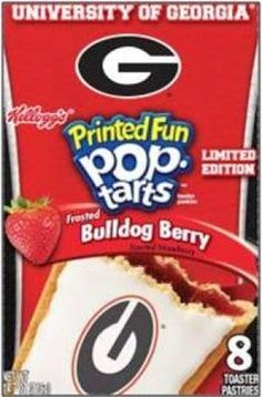 Melanie and Denise, Made me think of you two!  UGA Pop-Tart   A Dawg has got to eat!