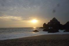 Sunset at Punta Negra, Los Bikinis Beach or Bikini Beach. #sea #sunset #puntanegra #lima #peru #sea #bikini