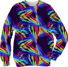 DANCING RAINBOWS SWEATSHIRT  from Jan4insight on Print All Over Me
