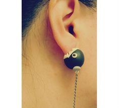 High quality Chain Chomp Earrings / Mario Ear stud / by GUOCRAFTS