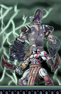 Finally did another god of war pic, What uuup. Demi-Gods of Thunder Kratos God Of War, Mortal Kombat Art, Best Gaming Wallpapers, Naruto Teams, Rwby Anime, Robot Concept Art, Video Game Characters, Fantasy Character Design, Manga Girl
