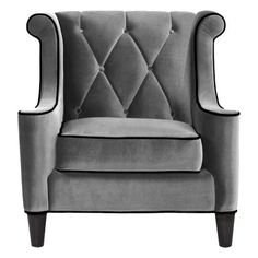 I pinned this Barrister Arm Chair in Gray from the Armen Living event at Joss and Main!  Another potential chair... just needs the right fabric...