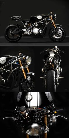 Kawasaki Z1000 Café Racer by Santiago Chopper     http://motorivista.com/breitling-cafe-racer/