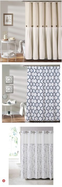 Shop Target for shower & liner you will love at great low prices. Free shipping on orders of $35+ or free same-day pick-up in store. New Bathroom Ideas, Bathroom Colors, Bathroom Inspiration, Downstairs Bathroom, Bathroom Shower Curtains, Small Bathroom, Shower Liner, Diy Shower, Guest Bedrooms