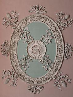 Osterley Park, London Robert Adam ceiling detail