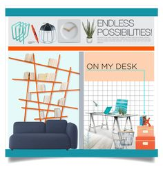 """""""Desk"""" by lulunam ❤ liked on Polyvore featuring interior, interiors, interior design, home, home decor, interior decorating, Compagnie, CALLIGARIS, Thrive and Kate Spade"""