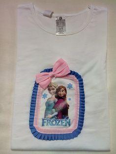 ARTE&JOYAS de PRINCESAS: Camiseta Frozen Una linda camiseta de Frozen..espero que os guste