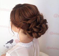 Low bun, textured updo, messy bun, loose curls, bridal updo, wedding updo