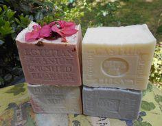 Castile Olive Soap and 3 more Soaps Lilac soap , Lavender soap  and Geranium <3
