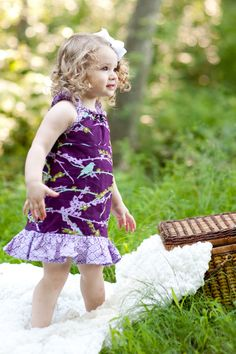bird dress $38 #etsy #purple #girls #dress