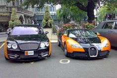 Bentley Continental Flying Spur Vs Bugatti Veyron