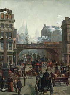 Ludgate Hill, London - Wilhelm Trubner