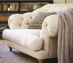 Today's top pin is a super cosy armchair everyone wants to curl up on. Coastal Living Rooms, Living Room On A Budget, Chic Living Room, Living Room Chairs, Living Room Decor, Dining Chairs, Coastal Homes, Big Comfy Chair, Cozy Chair