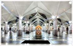 The As Syakirin Mosque (Malay: Masjid As Syakirin), also known as KLCC Mosque, is a mosque located in the Kuala Lumpur City Centre (KLCC). The mosque is situated near the Suria KLCC shopping centre and the Petronas Twin Towers, the tallest twin towers in the world.