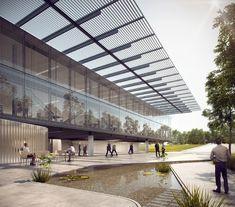 Divulgado o resultado do concurso nacional para a nova sede do CAU/BR + IAB/DF,1º Lugar. Image via IAB/DF