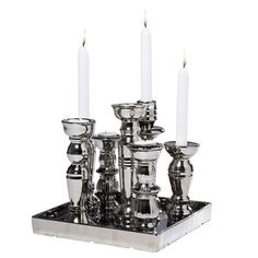 Multiple Chrome Candle Stand