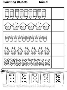 count and compare objects number recognition printable worksheets and worksheets. Black Bedroom Furniture Sets. Home Design Ideas
