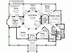1000 images about floor plans on pinterest floor plans for Floor plans with kitchen in middle of house