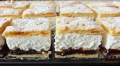 Ein Kuchen aus Mürbeteig, Quark-Schlagsahne-Füllung mit Vanille-Geschmack und einer erfrischenden Pflaumenmus-Schicht.