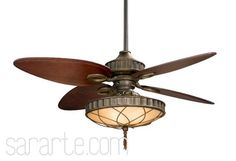 "Venetian Bronze With Cairo Purple Blades Bayhill Lauren Brooks 4 Blade 56"" Ceiling Fan - Blades, Light And Wall Control Included - Lau - Fanimation (LB270VZ) $665.71"