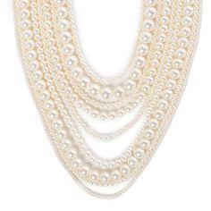I love the Lolita Jewelry Multi Row Pearl Necklace from LittleBlackBag