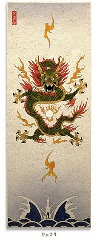 The Chinese Dragon not only represents male aspects but is the symbol of the Emperor. You can always tell the difference between an Imperial Dragon and a common Chinese dragon by counting the claws on each foot. A five clawed Dragon will always represent the Emperor, and are usually bright yellow or gold in color.