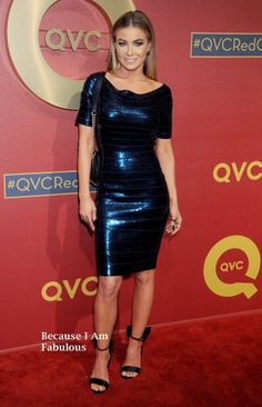 Fabulously Spotted: Carmen Electra Wearing Herve Leger - QVC 5th Annual Red Carpet Style Event  - http://www.becauseiamfabulous.com/2014/03/carmen-electra-wearing-herve-leger-qvc-5th-annual-red-carpet-style-event/