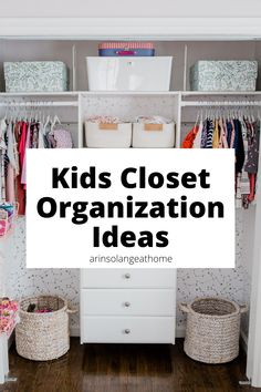 Here are organization ideas and tips for kids closets! Organize your kids clothes and toys in their bedroom with these organization items. Kids Clothes Organization, Home Organization Hacks, Closet Organization, Kids Hangers, Kid Bedrooms, Kid Closet, Organizing Life, Playrooms, Diy Home Improvement