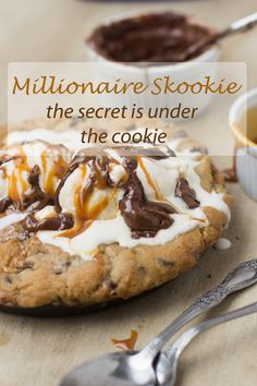 millionaire skookie with a secret that is under the cookie and totally to die for! from @Sweet Basil