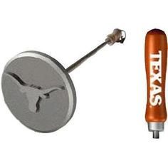 """Sports Brand Deluxe Texas Bbq College Branding Iron by Sports Brand. $35.99. Easily heated on your open flame or charcoal grill.. Made of quality stainless steel.. The head of the brand is about 3"""" in size.. Cleans with soap and water.. Sports Brand Deluxe Texas BBQ College Branding Iron. TEXAS. Branding Irons. Deluxe college team stainless BBQ branding iron. With team spirit colored handles."""
