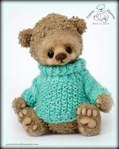 how to knit a raglan sweater for a teddy bear. tutorial in Russian Crochet Bear, Love Crochet, Diy Crochet, Crochet Toys, Teddy Toys, Bear Toy, Cute Bears, Doll Crafts, Handmade Toys