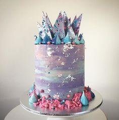 Lottie and Belle. Taro Blueberry cake  Happy Birthday Jenny!