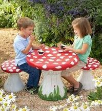 Mushroom Table and Stools ($199) | 100+ Awesome Gifts For Kids | The Mindful Shopper