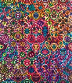 'Large Cairene Window', 2010 by Philip Taaffe, (Showing at Gagosian Gallery London)