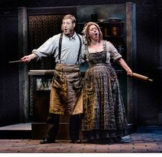 Sweeney and Mrs Lovett on stage
