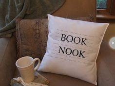 .Book Nook Pillow