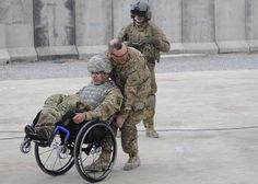 Operation Proper Exit II  by DVIDSHUB, via Flickr ... opportunity for Wounded Warriors to come back to theater in uniform and leave on their own terms in order to help the healing process.