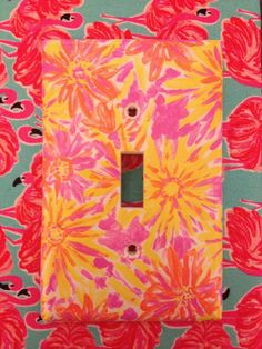 Lilly Pulitzer Print Inspired Switch-plate