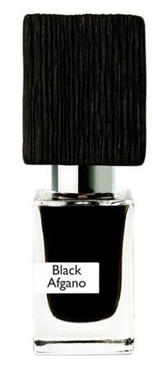 nasomatto extrait de parfum black afghano. This fragrance aims to evoke the best quality of hashish. It is the result of a quest to arouse the effects of temporary bliss.  A rich and hypnotic scent, with dark notes of coffee, oud, tobacco.   Nasomatto Black Afgano is a strong smoke and incense fragrance.