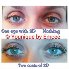 amazing! look at the lashes! get yours! you will love it I promise. #glutenfree #naturalproducts #crueltyfree $35cad check it out at www.youniqueproduits.com/mariecarmelba