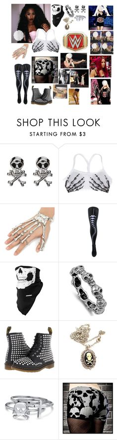 """🌪 Anasttasia 🌪 Halloween Raw 🔴 In-ring segment with Sasha Banks interrupted by the Club"" by queenofwrestling ❤ liked on Polyvore featuring Dr. Martens and Bling Jewelry"
