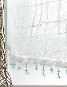 Sea Splash Sheer Curtains for Beach / Coastal Themed Decor