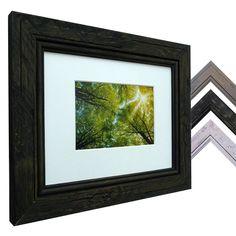 Bilderrahmen ist in vielen Standard-Formaten Farben: schwarz, weiss, grau mit Passepartout
