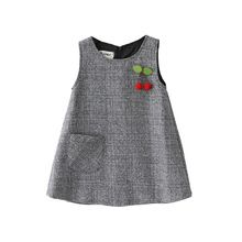 NEW For Fall Little Girls Jumper With Adorable Cherry Applique Baby Girl Dresses Adorable Applique Cherry Fall Girls jumper Kids Dress Wear, Dresses Kids Girl, Kids Outfits, Dresses For Toddlers, Baby Dresses, Dress Girl, Winter Outfits, Winter Baby Clothes, Baby Girl Winter
