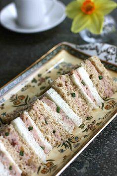 Ham, Mango Chutney & Pecan Tea Sandwich Recipe. This is a delicious recipe and a favorite when I serve it. CJD.