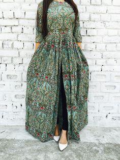 Mughal block print cape by Alaya   The Secret Label