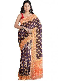 #brown #woven #bridal #kanjivaram #silk #saree #blouse #attractive #design #sareelove #new #arrivals #beautiful #indianwear #ootd #traditional #womenswear #online #shopping